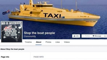 This is Australia ... the Facebook page administered by Vuga.