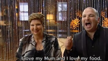 George gets his point across on MasterChef.