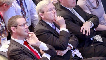 Foreign Affairs Minister Kevin Rudd and Communications Minister Stephen Conroy released a joint statement explaining why the Australian Network announcement had been delayed.