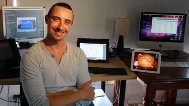 Wollongong animator Phil Jennings moved from Sydney to get early access to the NBN and now works from home.