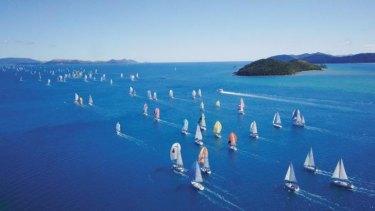 Hamilton Island Race Week yachts.