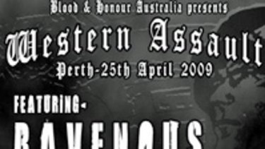 Perth's nazis are organising a hardcore fundraising gig for Anzac Day.