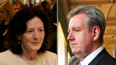 Catherine Cusack was locked out by the Premier, Barry O'Farrell.