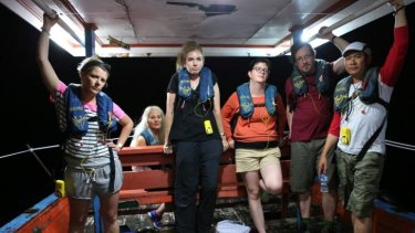 Life changing for some ... the participants experience a voyage on a typical asylum-seeker vessel.