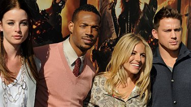 Rachel Nichols, Marlon Wayans, Sienna Miller and Channing Tatum in Sydney to promote G.I. Joe: The Rise of Cobra.