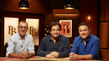 <i>The Front Bar</I> hosts Andrew Maher, Mick Molloy and Sam Pang tackle all things AFL.