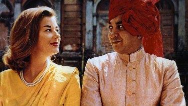 Lavish lives: Gina Narayan with her husband, the Maharajah of Cooch Behar.