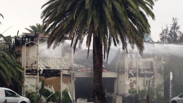 The Stokehouse the day after the fire.