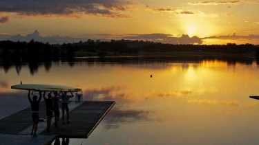 Early morning crew training near Penrith earlier this month.