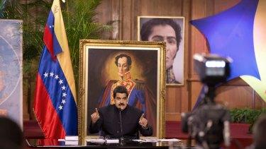 Venezuela'n President Nicolas Maduro last month.