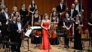Intimate collaboration: Anne-Sophie Mutter led the Sydney Symphony from the violin.