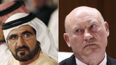 Sheikh Mohammed bin Rashid Al Maktoum and Ian MacDonald.