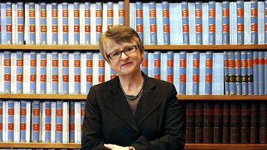 Virginia Bell in her office yesterday at the Supreme Court of New South Wales.