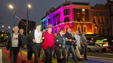Mardi Gras 78ers celebrate a reunion at the 2013 parade.