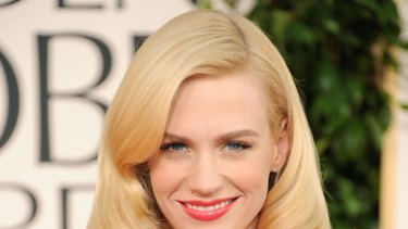 January Jones ... silent on the father.