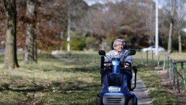 Mobility scooter user Barbara Lund says her scooter gives her much-needed independence.