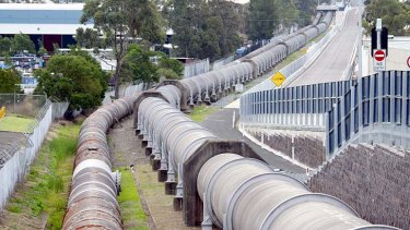Water, water everywhere: 120 million litres leaked per day from Sydney Water's pipe network last year.
