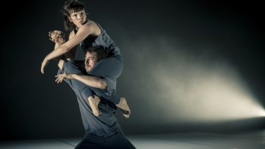 Kyle Page and Amber Haines in Stephanie Lake's Double Blind.