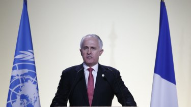 Australia's PM Malcolm Turnbull told world leaders at the Paris summit  the government would double the $100-million-a-year investment in clean technology research.