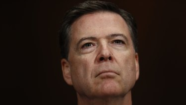Sacked: Former FBI director James Comey.