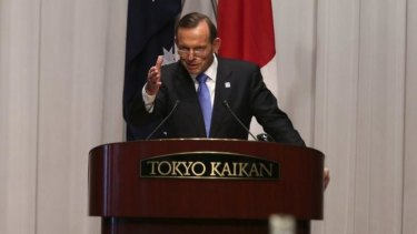 Prime Minister Tony at  Japan's National  Security Council in Tokyo.