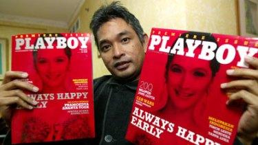 Imprisoned ... the former editor of <i>Playboy Indonesia</i>, Erwin Arnada.