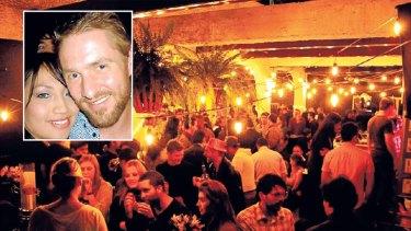 La Villa nightclub in Bogota, and (inset) Australian part-owner Travis Crockett.