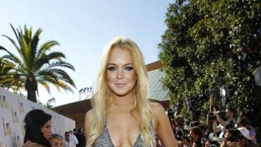Actress Lindsay Lohan at the 2010 MTV Movie Awards in Los Angeles.