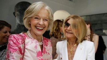 Dame Quentin Bryce and Carla Zampatti at the launch of Zampatti's book,