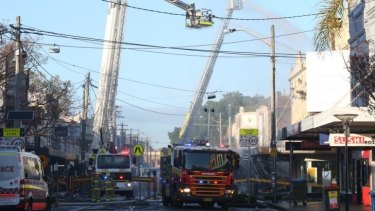 Firefighters battled to contain the blaze.