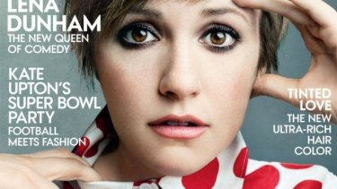 Lena Dunham's <i>Vogue</i> cover. The website <i>Jezabel</i> caused a stir for calling out the Photoshopping, but Dunham says she's happy with the way the images were edited.