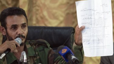 Ajmi al-Atiri, commander of the Zintan brigade that arrested Seif al-Islam, the detained son of slain leader Moamer Kadhafi.