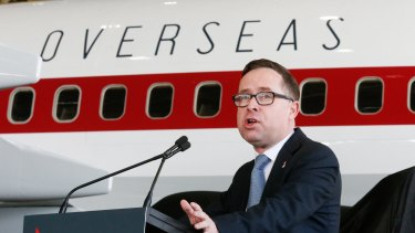 Qantas chief executive Alan Joyce says demand for US flights remains strong despite the planned decrease in capacity.