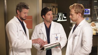 Eric Dane, Patrick Dempsey and Kevin McKidd in Grey's Anatomy.