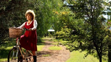 ''There was no victim in my particular Australian crime'' … a helmetless Sue Abbott with her bike on her Scone property.
