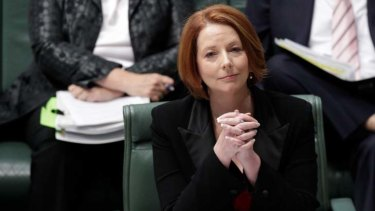 Still battling the same intractable policy issues ... Julia Gillard.