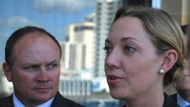 Nationals Colin Holt (left) and Mia Davies opposed the new stop-and-search laws.