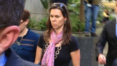 Gerard Baden-Clay's sister Olivia Walton outside Brisbane Supreme Court during the bail application.