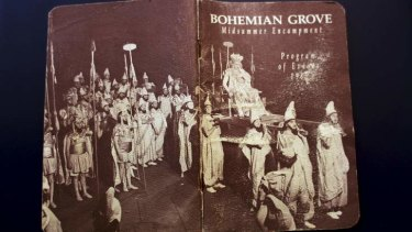 Elite crowd: A Bohemian Grove program.