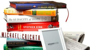 Amazon's Kindle e-book reader.