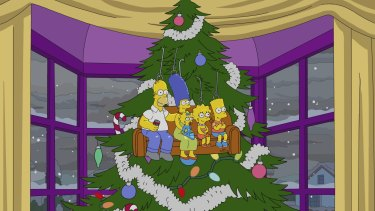 The Simpsons: Sideshow Bob gets contracted as this year'•s mall Santa.