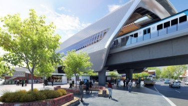 An artist's impression of skyrail.