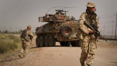 On patrol: ADF troops in Iraq's Al Muthanna province in 2007.