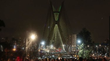 Tens of thousands of people took to the streets of major Brazilian cities protesting the billions of dollars spent on the Confederations Cup --and preparations for the upcoming World Cup-- and against the hike in mass transit fares.
