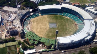 Under construction: a photo of the Sydney Cricket Ground about 10 days ago.