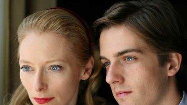 Tilda Swinto and Mattia Zaccaro in I Am Love.