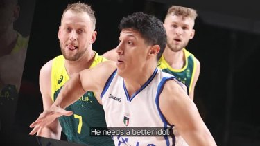 Joe Ingles was quite surprised to hear that he was Simone Fontecchio's idol and was thoroughly impressed with the 25-year-old after Australia's 86-83 victory over Italy.