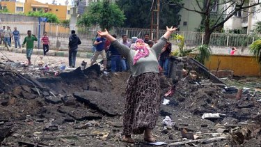Volatile situation: Anger and grief in Reyhanli after the town is rocked by explosions.
