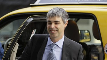 Google CEO Larry Page arrives for his second day on the stand at the Oracle v Google trial.