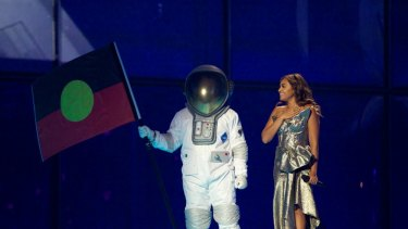 Jessica Mauboy in rehearsal for Eurovision 2014.